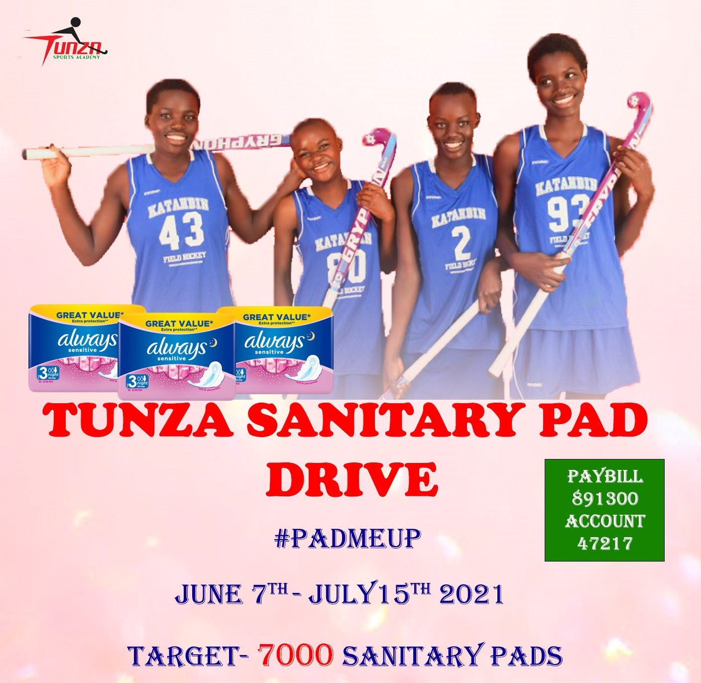 Tunza Sports' Pad Me Up Campaign to Help Keep Girls in School - HockeyKE Blog